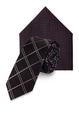 Set Krawatte und Tuch aus Seide