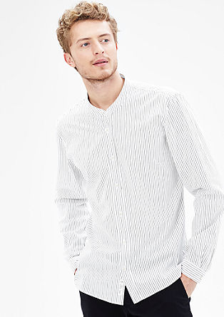 Modern fit: shirt with a stand-up collar from s.Oliver