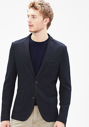 Slim: knit jacket with unfinished edges from s.Oliver