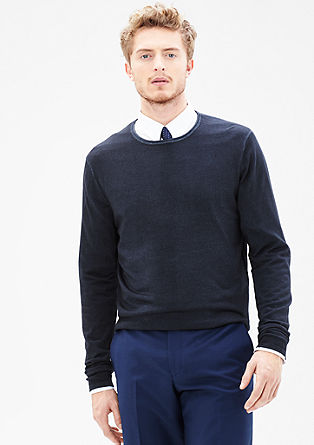 Lightweight garment-dyed wool jumper from s.Oliver