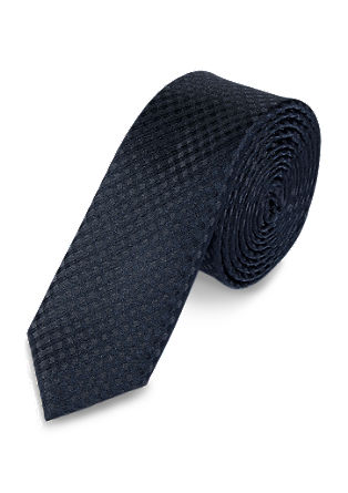 Tie with tonal diamond pattern from s.Oliver