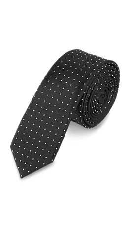 Polka dot pattern silk tie from s.Oliver