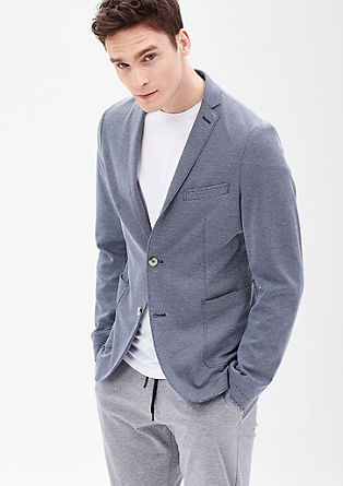Slim: casual sports jacket with stripes from s.Oliver