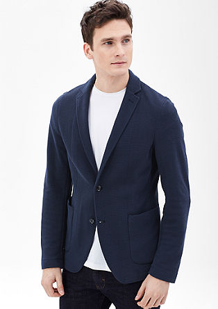 Slim: ribbed sports jacket from s.Oliver