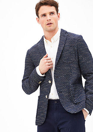 Modern fit: colbert in een bouclé look