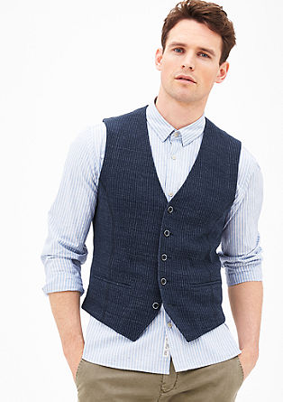 Knit waistcoat in blended linen from s.Oliver