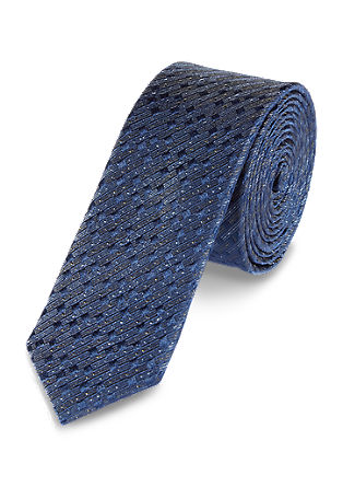 Tie with textured pattern from s.Oliver