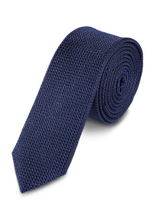 Silk tie with a woven texture from s.Oliver