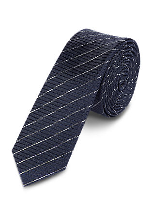 Tie with diagonal woven stripes from s.Oliver