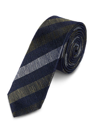 Silk tie with diagonal stripes from s.Oliver