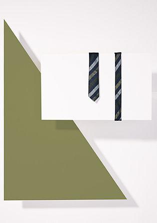 Seidenkrawatte mit Diagonalstreifen