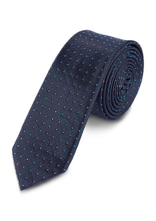 Silk tie with polka dot pattern from s.Oliver