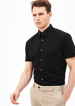 Modern fit: overhemd met een wijde kraag