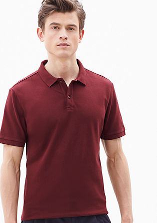 Elegant piqué polo shirt from s.Oliver