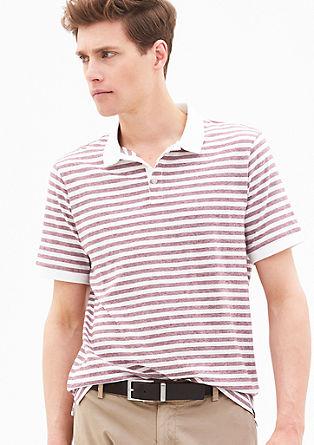 Geringeltes Poloshirt aus Jersey