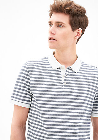 Striped jersey polo shirt from s.Oliver