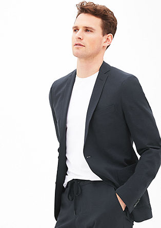 Slim: Tailored jacket with a crinkled texture from s.Oliver