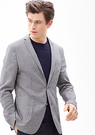 Slim: Sports jacket with a woven pattern from s.Oliver