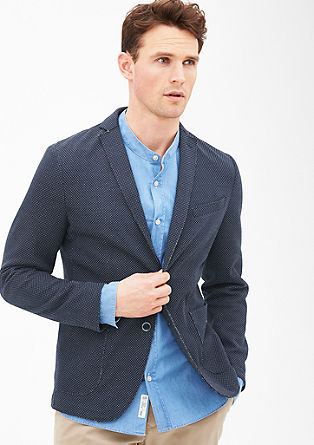 Slim: Jacket with unfinished edges from s.Oliver