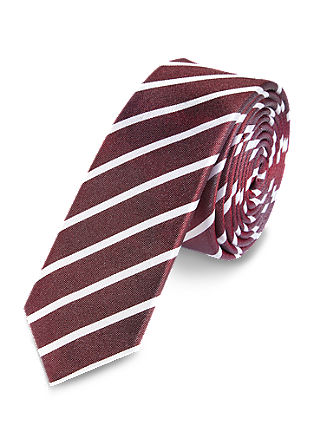 Tie with diagonal stripes from s.Oliver