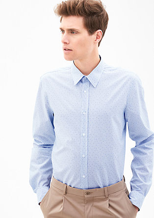 Slim: Hemd mit Musterprint