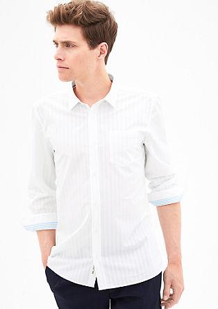 Slim: črtasta srajca krajšega kroja