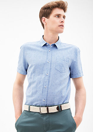 Slim: Ultra-lightweight shirt in cool linen from s.Oliver