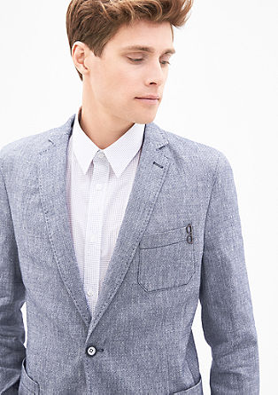 Modern fit: blended linen jacket from s.Oliver