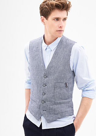 Linen blend waistcoat from s.Oliver