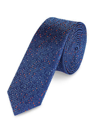 Mottled silk tie from s.Oliver