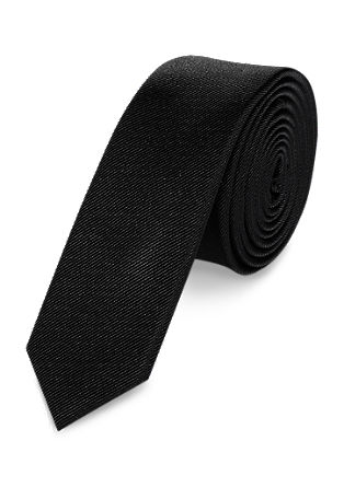 Black silk tie from s.Oliver