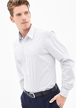 Slim: shirt with a printed pattern from s.Oliver