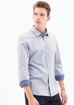 Modern Fit: Hemd mit Musterstruktur
