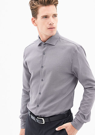 Modern Fit: Hemd mit Minimalmuster