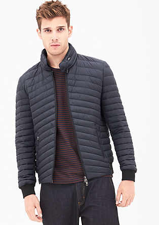 Quilted jacket with an integrated hood from s.Oliver