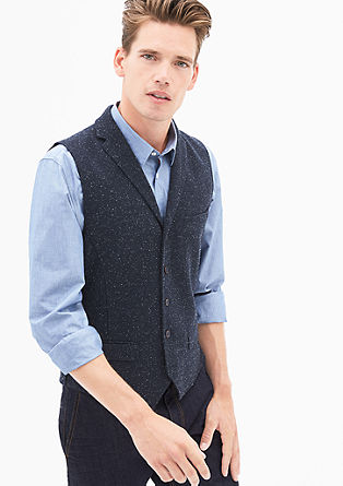 Waistcoat with a melange effect from s.Oliver