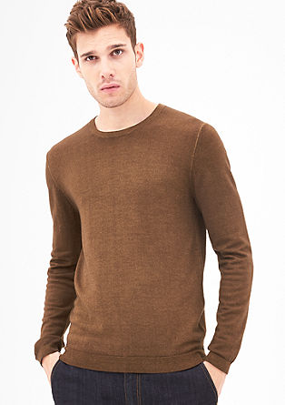 Classic jumper with a garment-washed effect from s.Oliver