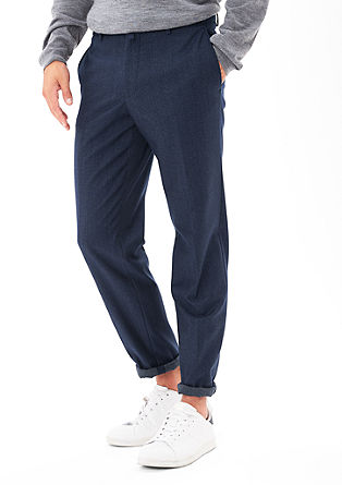 Cosimo Slim: melange business trousers from s.Oliver