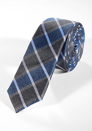 Check silk tie from s.Oliver