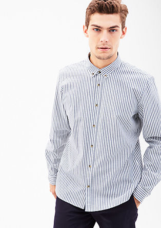 Modern fit: Overhemd met buttondownkraag