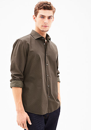 Modern fit: overhemd met textuur