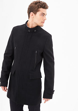 Slim Fit: Wool coat in a clean look from s.Oliver