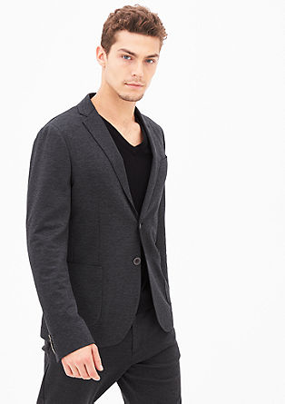 Tracksuit: Suit jacket with a woven texture from s.Oliver