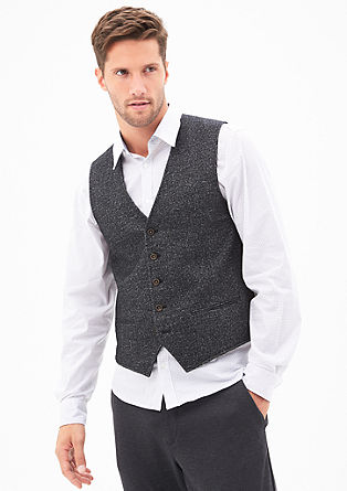 Melange waistcoat in a wool blend from s.Oliver