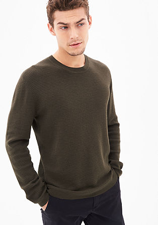 Wool jumper with a striped texture from s.Oliver