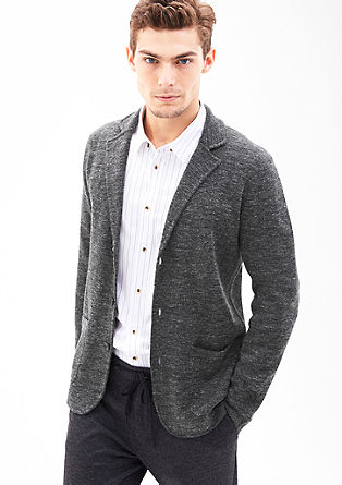 Cardigan in the style of a tailored jacket from s.Oliver