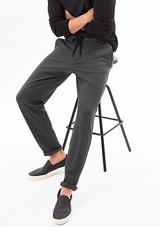 Tracksuit: Suit trousers with a woven texture from s.Oliver