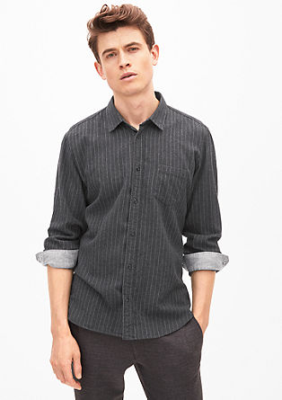 Modern fit: Striped flannel shirt from s.Oliver