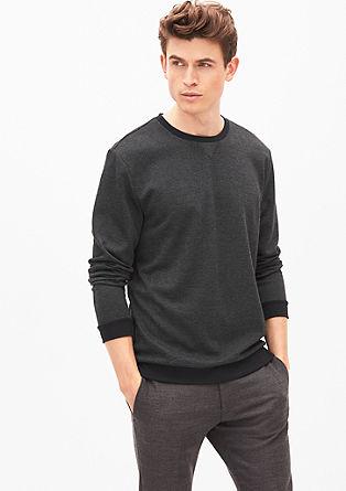 Sweatshirt met visgraatstructuur