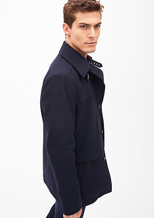 Slim: Wool jacket with fashionable details from s.Oliver